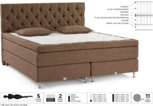 Bekväm continentalsäng eller kontinentalsäng. Sängen heter Sirius och kommer från Viking Beds. Finns som fast, extra fast och medium.
