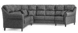 Byggbar soffa från Above som finns i skinn och tyg