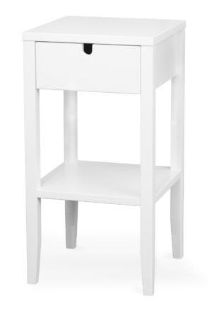 Ett sängbord eller nattduksbord vid namn Klinte. Detta sängbord kommer från Torkelsons och har både hylla och låda.