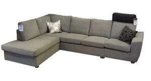 Byggbara soffan Helene. Olika armstöd finns samt olika delar så som öppna avslut, divaner och vanliga sitsar.