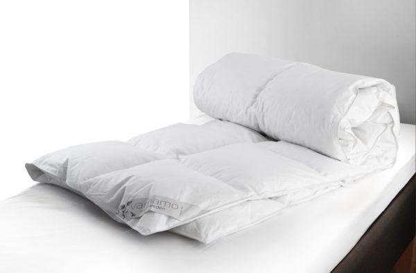 Fint svensktillverkat täcke från Värnamo sängkläder. Täcket heter Lilja och finns som svalt, medium och varmt. Täcket finns även som täcke till dubbelsäng.