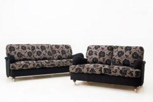 En fin soffa i howard modell. Soffan heter Lincoln och är från Ermatiko. Går att få som svängd eller rak soffa. Finns även som fåtölj.
