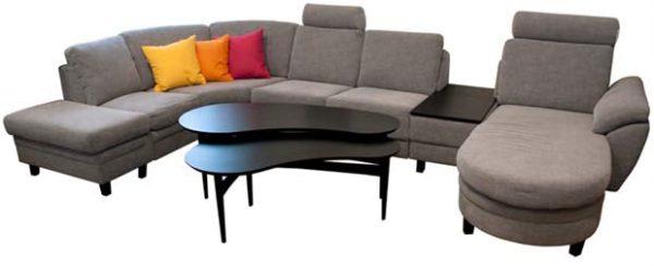 Bekväm byggbar soffa. Soffan heter Multi och är från Hjort Knudsen. Soffan går att bygga precis som du vill efter just ditt vardagsrum.