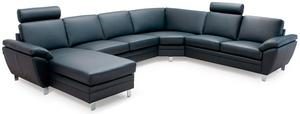 En soffa som du kan bygga som du önskar så att den passar ditt vardagsrum. Finns med sitsar i flera olika fastheter och med olika djup.