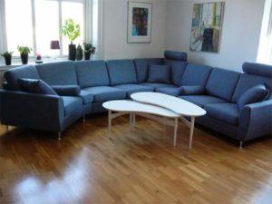 En byggbar soffa vid namn Rose, soffan går att få i tyg och skinn. Välj mellan hörnsoffa, öppna avslut och divaner.