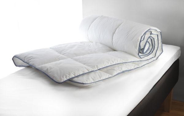 Sköna täcket blåklocka från Värnamo sängkläder. Täcket är svensktillverkat och ekologiskt. Detta täcke finns som medium och varmt.
