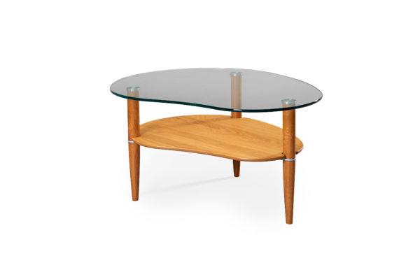 Ett fint glasbord från Bordbirger. Detta fina soffbord finns med ben i färgerna Ek, rökt ek, svartbetsad ek och vitlack.
