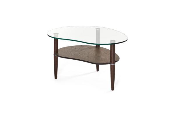 Ett bord från Bordbirger. Detta soffbord finns i flera färger. Bordet har en skiva i glas.