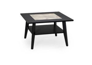 Fyrkantigt soffbord med vintage utseende.