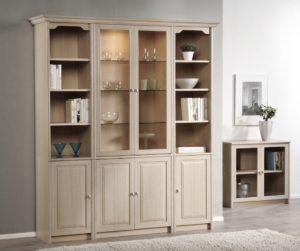 En bokhylla som är byggbar där du kan välja färger och design själv.