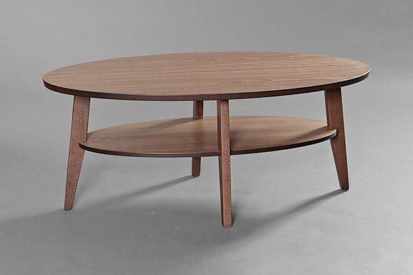 Ett soffbord från Bordbirger som går att få som runt soffbord och som ovalt soffbord.