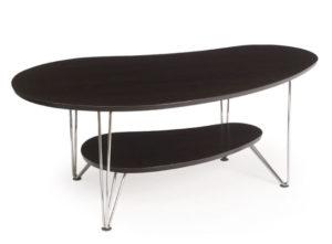 Ett fint njurformat soffbord som passar bra i vardagsrum.