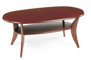 Ett fint soffbord med bra förvaring då det har en hylla. Bordet finns i flera olika modeller så som runt och ovalt.