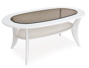 Ett fint soffbord med förvaring i form av en hylla.
