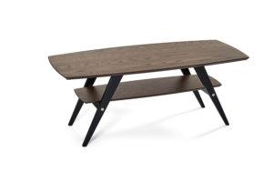 Ett soffbord från bordbirger som finns i ek, rökt ek svartbetsad ek och vitlack. Snyggt i vardagsrummet.