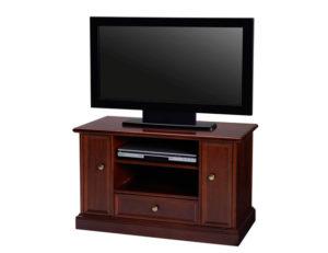 Vill du ha små eller stora tv-bänkar. Här är en liten tv-bänk med mycket förvaring. Finns i grått, vitt och valnöt.