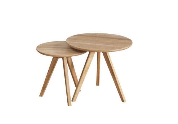 Ett fint satsbord som även finns som runt soffbord och ovalt soffbord.