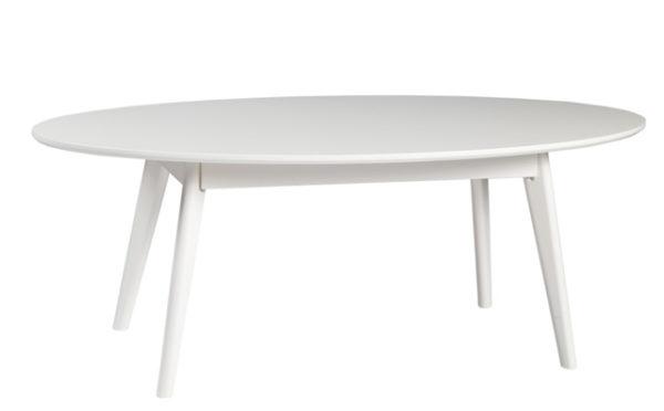 Detta vackra ovala soffbord finns i flera olika former. Välj mellan satsbord och runt soffbord.