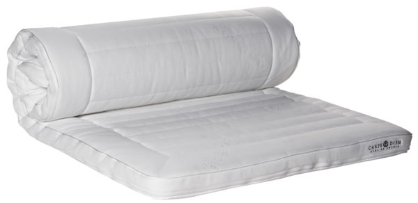 En svanenmärkt bäddmadrass från Carpe diem. Denna madrass är av latex och riktigt bekväm.