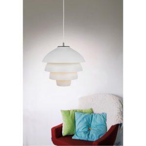 Fina taklampan Valencia från Belid. Denna lampa finns i massor av olika färger. Lampan finns även som fönsterlampa och bordslampa.