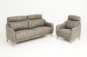 Snygg fåtölj som har hög rygg. Soffan går att bygga till 2- sitssoffa, 3- sitssoffa, fåtölj och hörnsoffa.