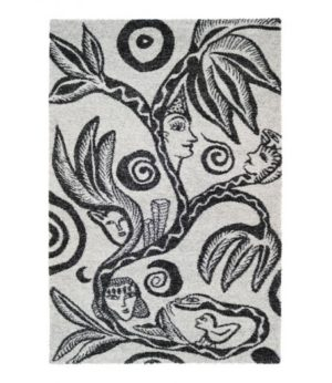 En fin matta designad av Ulrika Hydman Vallien. Finns i vitt och antracit. Storlek 160x230 cm.
