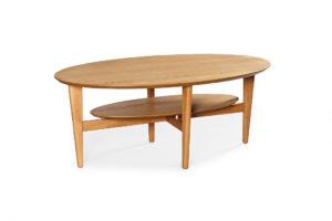 Soffbord i ek som också finns i björk, valnöt, vitlack, mahogny och svartbetsad ek