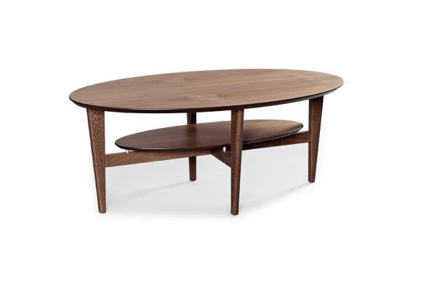 Soffbord för vardagsrummet. Här i valnöt. Från bordbirger.