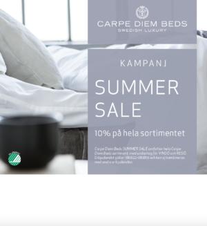 Carpe diem har just nu en kampanj där de erbjuder 10% rabatt på alla sängar och tillbehör.