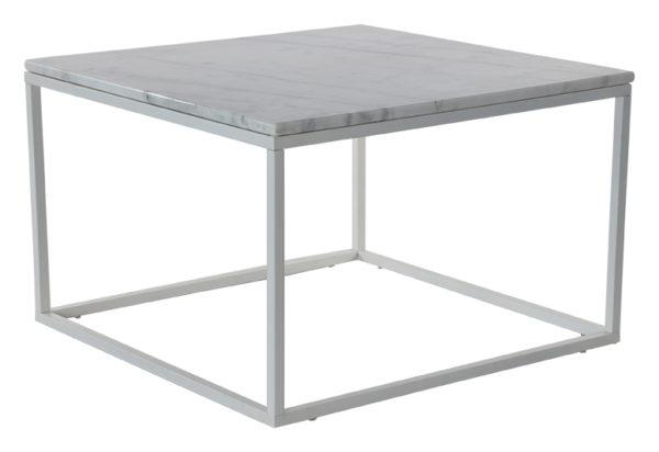 Fint soffbord där du kombinerar marmorskiva med underdel i metall.