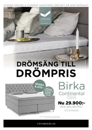 Just nu en kampanj med bra erbjudanden på sängen Sirius Continental från Viking.
