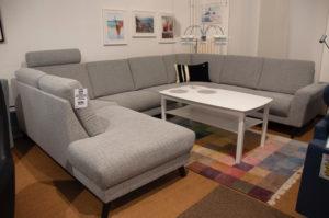 En byggbar soffa som finns i tyg och skinn. Bygg soffan så att den passar ditt vardagsrum.