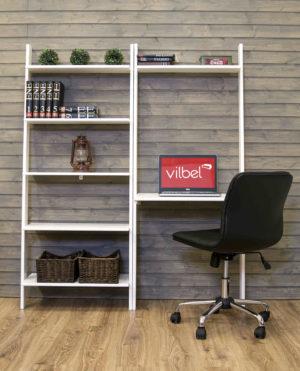 Smart lösning för det lilla kontoret. Ett skrivbord som går att kombinera med flera hyllor. Finns i färgerna brunt och vitt.