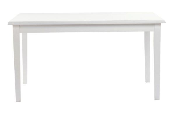 Fint vitt matbord som finns som vanligt matbord, runt matbord och ovalt matbord. Bordet heter Koster och kommer från Rowico.