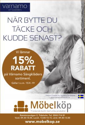 Nu lämnar vi 15 % rabatt på Värnamo Sängkläders sortiment