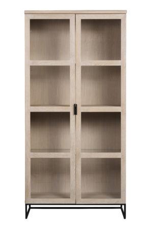 Fint vitrinskåp ur serien Everett från Rowico. Denna serie består av matbord och sideboard samt vitrinskåp. Välj mellan vitpigmenterad ek och svartlackad ek.
