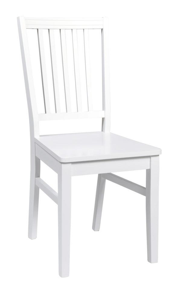 Stolen Wittskär som hör till matgruppen med samma namn. Denna stol är i vitlack. Passar bra till Wittskär matbord.