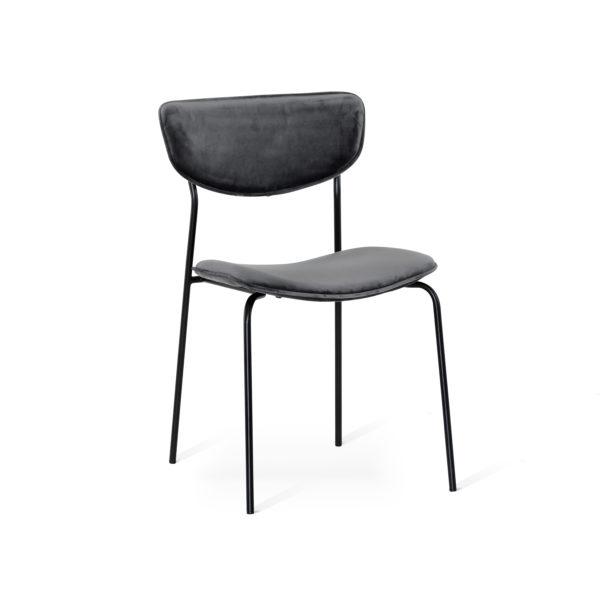 Milo är en stol som finns som grå och grön. Passar bra till runda matbordet Miles. Allt från Torkelson.