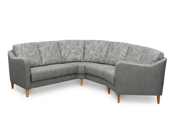 Byggbar soffa vid namn Fika. Finns i tyg och skinn.