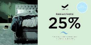 Ett bra erbjudande med 25 % rabatt på alla sängar ur serien Birka från Viking. Välj mellan ramsäng, ställbar säng / justerbar säng eller continentalsäng.
