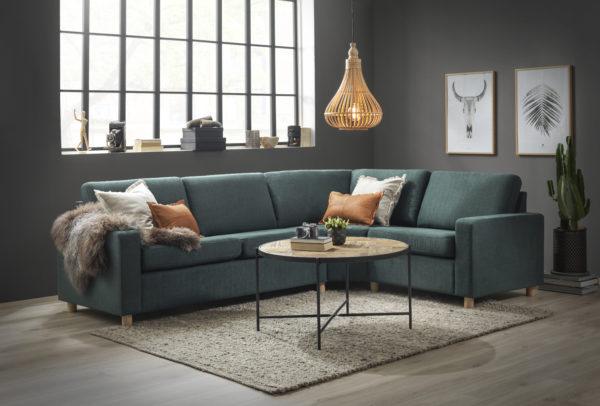 Fin byggbar soffa från Troels. Soffan London går att få i skinn och tygg. Välj mellan låg soffa, djup soffa och hög soffa.