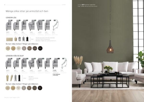 London byggbar soffa från Troels. Välj mellan olika armstöd, sitsar och mellan modeller så som låg, hög och djup. Finns i tyg och skinn.