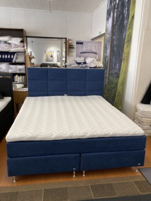 Bekväm kontinentalsäng med 5 zoner. Sängen Topas tillverkas av Ermatiko. Kontinentalsängen finns i medium, fast och extra fast.