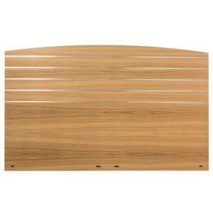 Tild huvudgavel från Cs möbler. Denna gavel till säng finns i ek och vit. Gaveln är randig med metall.