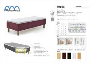 Bekväm 5 zonad säng vid namn Topaz. Denna ramsäng har vi just nu rabatt på.