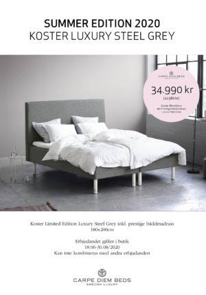 Just nu ett erbjudande på sängar från Carpe Diem. Välj mellan Koster ramsäng eller Kornö kontinentalsäng.