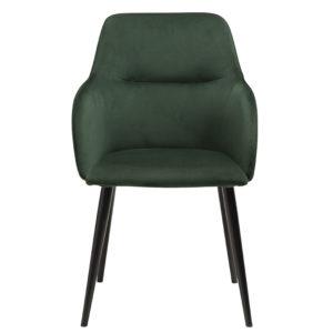 Urban en stol från Dan form. Urban har ben i metall och finns i grön och svart sammet samt svart vintage konstläder.