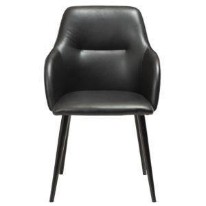 Stol från Dan form. Urban finns i svett sammet, svart konstläder och grön sammet. Stolen har ben i metall.