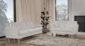 Emma är en soffa från bd möbel med fina detaljer. Soffan har knappar på ryggstöd och armstöd.