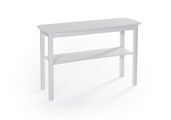 Fint sidobord med en liten låda. Detta sidobord heter Marathon och är svensktillverkat av Bordbirger. Bordet finns i ek, björk, vitlack, vitpigmenterad ek och svartbetsad ek.
